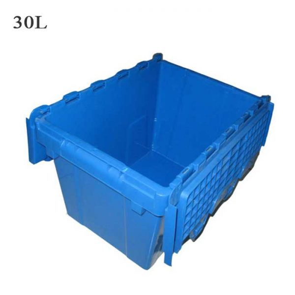 black plastic storage baskets
