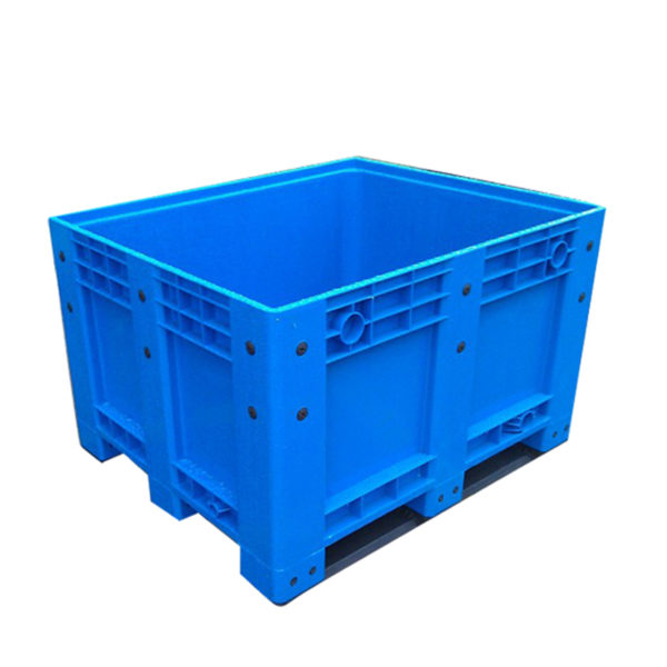 stackable pallet bins solid wall