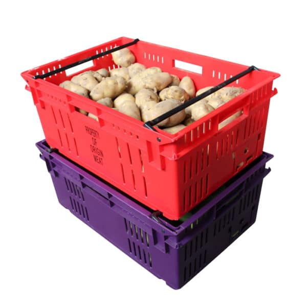 container plastic crate box for fruit