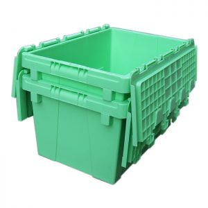 hinged storage containers