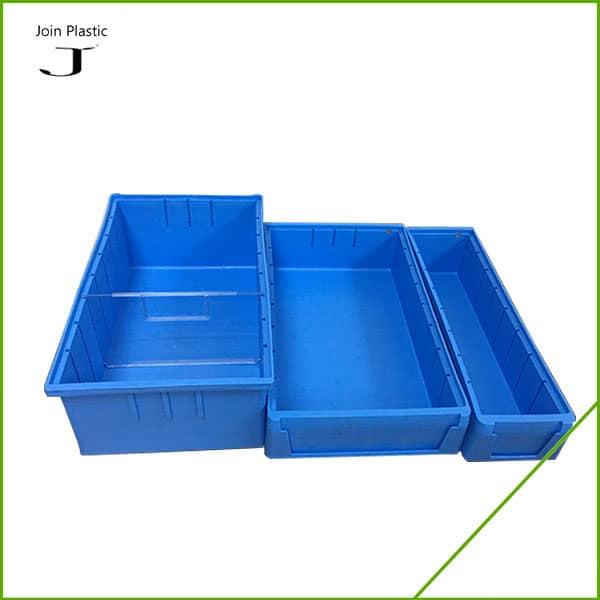 plastic shelf bins