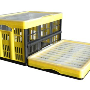 rolling collapsible crate