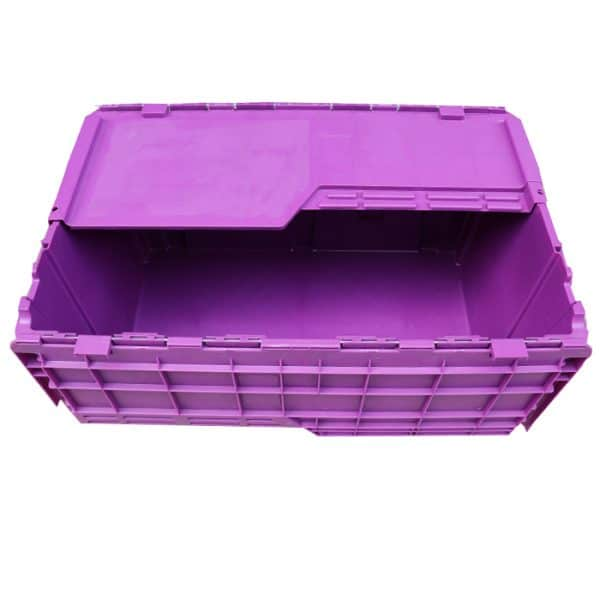 plastic totes with hinged lids